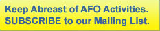 AFO Email Subscribe Button