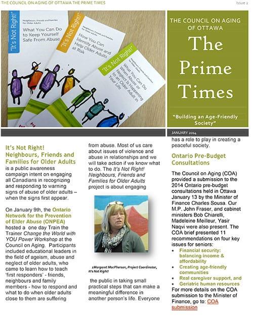 Prime-Times Newsletter