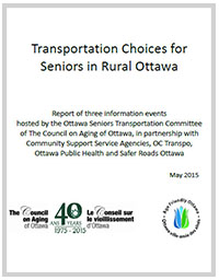 Transportation Choices for Seniors in Rural Ottawa
