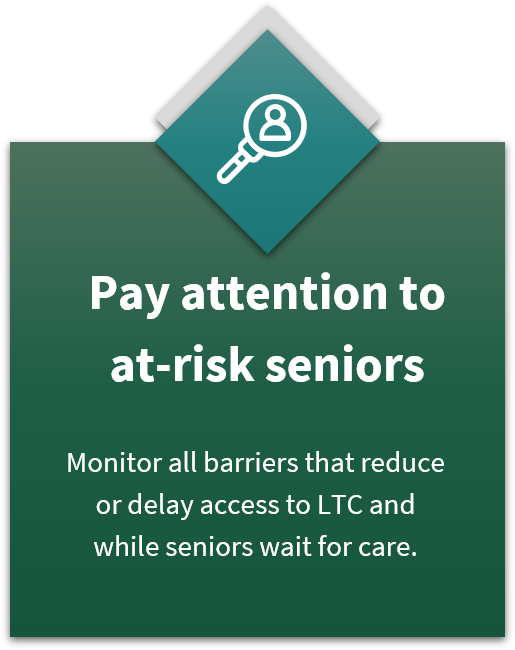 Pay attention to at-risk seniors