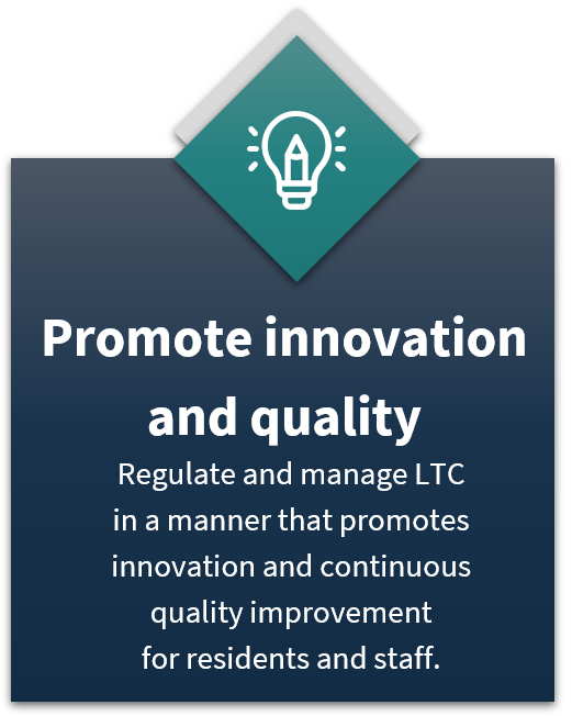 promote innovation and quality