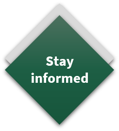 triangle button - stay informed
