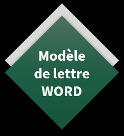 modele de lettre word